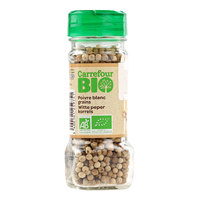 Carrefour Bio Organic White Pepper Grains 50g