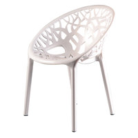 Shabaka Chair White 60X60X79.5Cm