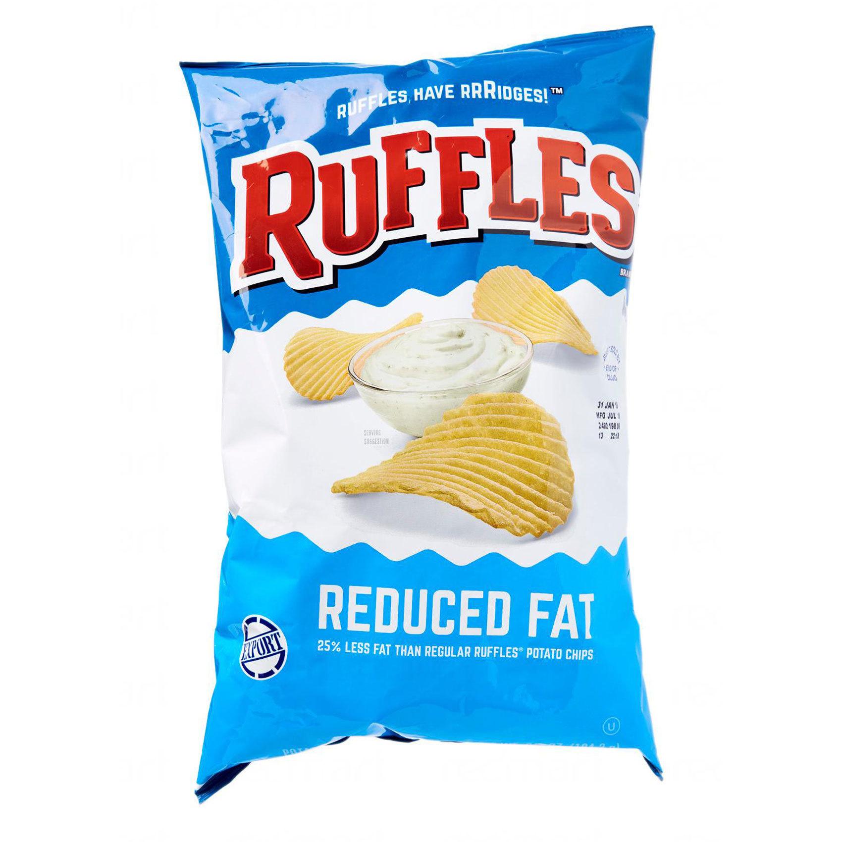 RUFFLES REDUCE FAT 184.27GR