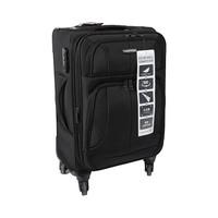 ترافل هاوس حقيبة سفر خامة ناعمة 4 عجلات مقاس 20 انش لون أسود