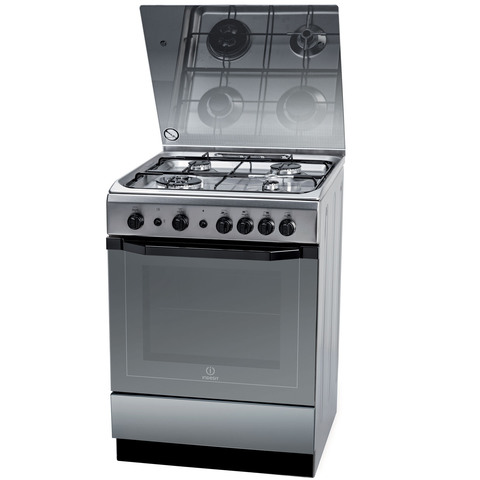 Indesit-60X60-Cm-Gas-Cooker-I6TG1GKXEX-4Burners