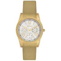 Lee Cooper Women's Multi-Function Gold Case Gold Super Metal Strap Silver Dial -LC06319.490