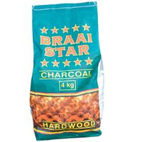 Braaistar Natural Charcoal Pack 4Kg
