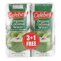 Celebes Organic Coconut Water 330ml x4