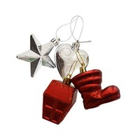 Hanging Tree Decoration Assorted Red Set Of 2