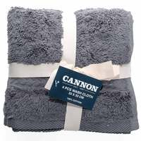 Cannon Face Towel 4pc set Grey 33X33cm