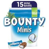Bounty® Minis Milk Chocolate Mini Bars Pouch 427.5g (15 pcs)