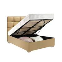 Lana Bed Set Box With Mattress 170X190 Cm Beige