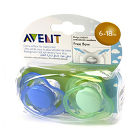 Philips Avent Orthodontic Free Flow Soothers 6-8 Months
