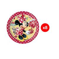 Disney Plates Minnie Mouse Coffee 20CM 8 Pieces