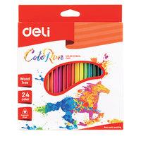 Deli Plastic Colored Pencil 24 Clrs
