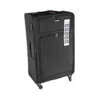 ترافل هاوس حقيبة سفر خامة ناعمة 4 عجلات مقاس 32 انش لون أسود