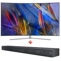 """Samsung Curved QLED TV 55"""" QA55Q7CAM + Soundbar 651 Worth 599AED"""
