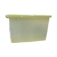 Rolling Storage Box With Casters Yellow 110L
