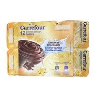 Carrefour Vanilla Chocolate Pudding 125gx12