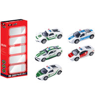Power Joy Diecast Police 5In 1 Pack
