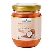 Earth`s Finest Organic Virgin Coconut Oil with Chili & Garlic 200ml