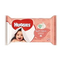 Huggies Baby Wipes Soft Skin 56 Pieces