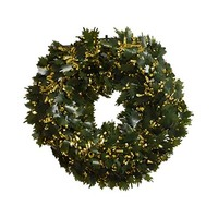 Wreath Garland Green & Gold 40CM