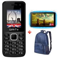 iBrit B1 Dual Sim Black + Kids Tablet + Backpack Bag