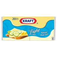 Kraft Light Cheese Slices 400g