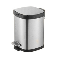 Stainless Steel Square Pedal Bin 8L