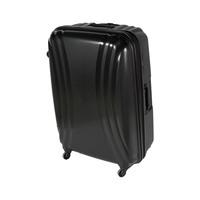 تراك هاي حقيبة سفر خامة صلبة 4 عجلات مقاس 29 انش لون أسود