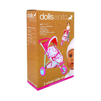 Dolls World 3 Wheel Dolls Stroller 3 Years+