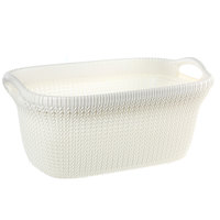 Knitting Laundry Basket-Oasis White