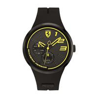 Scuderia Ferrari Men's Watch FXX Analog Black Dial Black Silicon Band 46mm Case