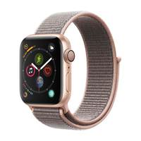 Apple Watch Series-4 GPS 40mm Gold Aluminium Case with Pink Sand Sport Loop (MU692AE/A)