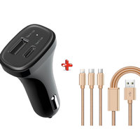 Xcell Car Charger CC490C + Cable 3 in 1