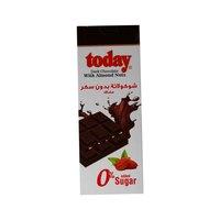 تودي شوكولاتة داكنة باللوز خالية من السكر 65 غرام