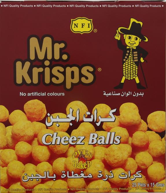 MR KRISPS CHEESE BALLS 15GRX25