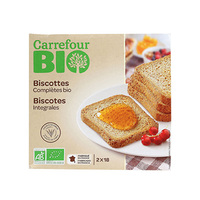 Carrefour Bio Organic Rusk Whole Wheat 300g