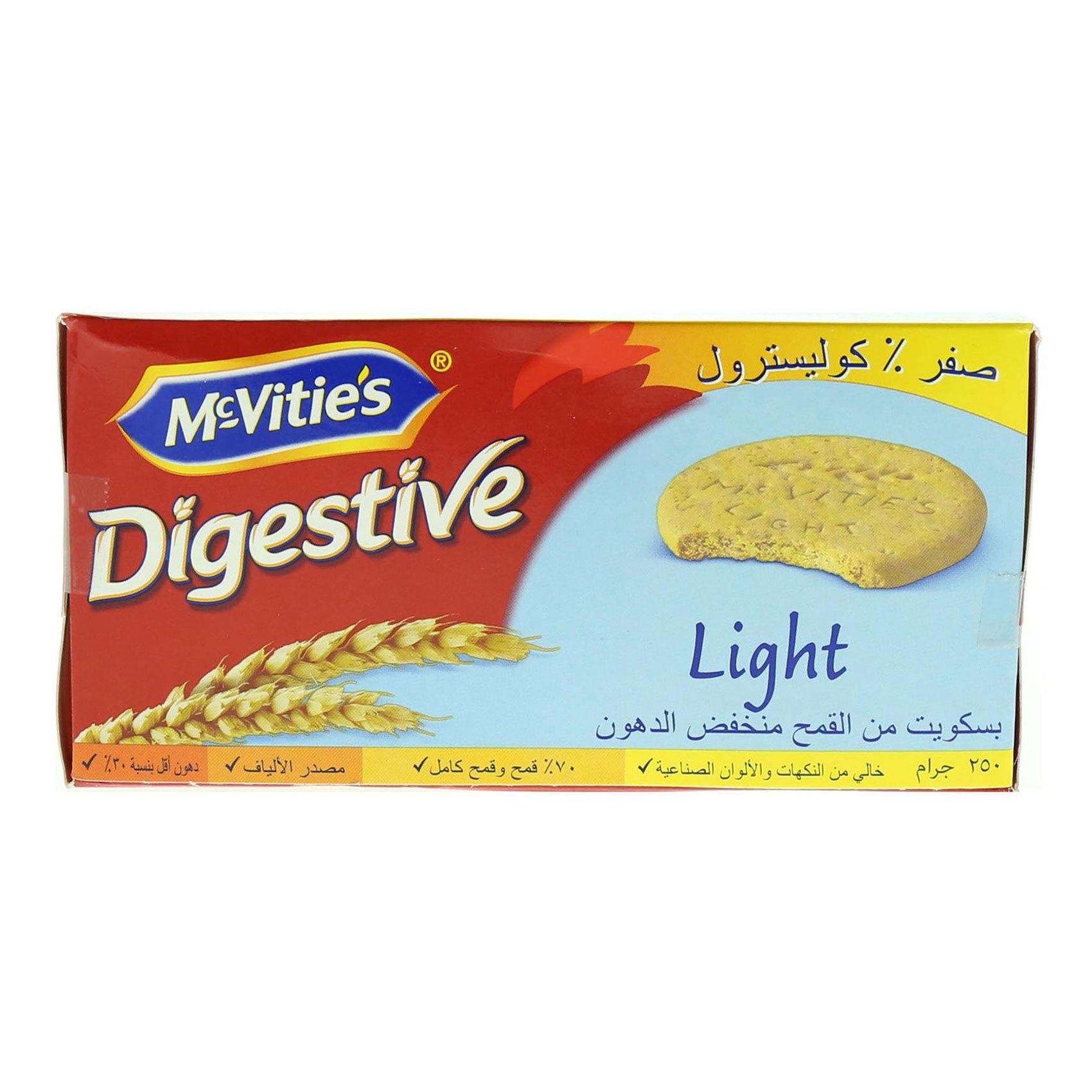 MCVITIE'S LIGHT DIGESTIVE 250G