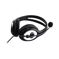 Microsoft Headset LX-3000 V Compatible With Skype Noise Cancelling MicroPhone Black