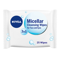 Nivea Face Wipes 3-in-1 Caring Micellar Cleansing 25 Wipes