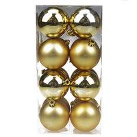 Balls Set Shiny/Matt 16Pcs 6Cm Gold