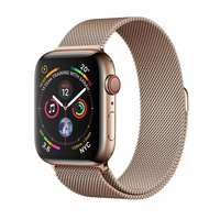 Apple Watch Series-4 GPS + Cellular 40mm Gold Stainless Steel Case with Gold Milanese Loop (MTVQ2AE/A)