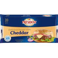 President Cheddar Slice Cheese 400g