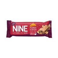 Nine Peanut & Raisin Seed Bar 50GR
