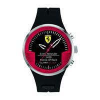 Scuderia Ferrari Men's Watch Ultraveloce Analog Black Dial Black Silicon Band 46mm Case