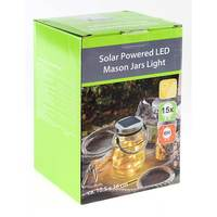 Carrefour Solar Glass Jar