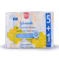 Johnson's Pure Protect Kids Soap 125g 6 Pieces