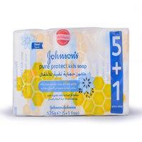 جونسون حماية نقية صابون للأطفال 125 غرام × 6