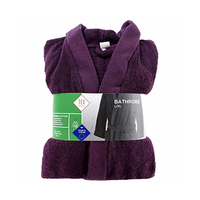 Tex Bathrobe Purple L/XL