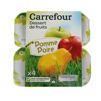 Carrefour Compote Apple Pear 100gx4