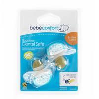 Bebeconfort Dental Safe Natural Rubber Soother Little Valleys (6 - 18M ) x2
