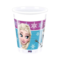 Disney Frozen Northern Lights Plastic Cups 200ML 8 Pieces